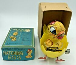 HATCHING EGG AUTOMATIC MECHANICAL Chicken Tin NY WIND UP Toy JAPAN Hard 8s Magic