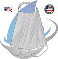 Disposable Protective Face Mask Class 3 Made In Usa 3-ply Ear Loop Surgical