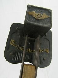 Antique Rare Embossed Westminster Gong 6 Rod Kienzle Clock Chime Bar