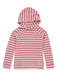 Wallflower Girls#x27; Striped Waffle Hoodie