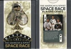 History Of The American And Soviet Space Race Playing Cards Poker Size Deck Wjpc
