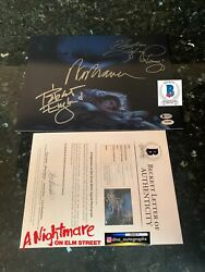 Wes Craven Signed Nightmare On Elm Street Signed 11x14 Bas Coa Beckett A