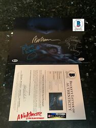 Wes Craven Signed Nightmare On Elm Street Signed 11x14 Bas Coa Beckett C