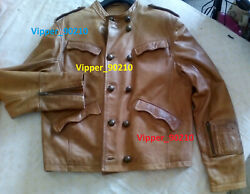 Civil War Jacket Leather Brown Western Very Rare Gipsy Collectors Item