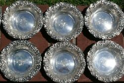 Set Of 12 - 1896/1925 Woodside Sterling Co. Repousse Bowls - 737.16 Grams