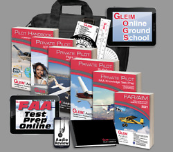 Gleim Private Pilot Deluxe Private Pilot Kit With Audio Review W/ Logbook Etc