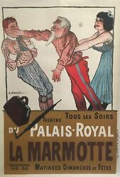 And039la Marmotteand039 Early 20th Century Original Vintage French Lithograph Poster1904