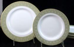 Royal Doulton Sonnet 4 Salad + 2 Bread And Butter Plates H5012 Good Condition