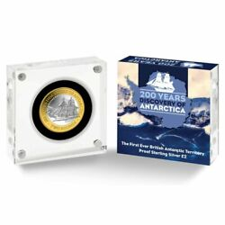 200 Years Discovery Of Antarctica 2020 Andpound2 Pound Silver Proof Coin Extremely Rare