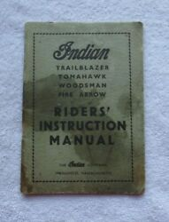 Vintage Indian Motorcycle Co Ridersand039 Instruction Book - Original Manual