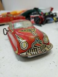 Vintage Marx Tin Litho Friction Official Fire Chief Car