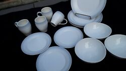 20 Down Now A Gorgeous Mikasa Swirl Ombre Grey 14 Pc Dinnerware Set Must Sell