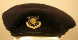 Us Air Force Security Police Space Command Crest Badge Beret 7 3/8 59