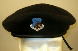 Us Air Force Security Police Communications Command Crest Badge Beret 7 1/4 58