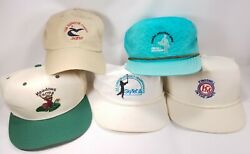 Lot Of 4 Golf Tournament And Course Hats Caps Kingsmill Senior Open Cog Hill