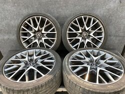 ✔lexus 15-19 Rc200t Rc350 F-sport 19 Rims Wheels Set Staggered Assembly Oem