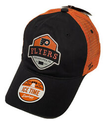 """Zephyr Nhl Philadelphia Flyers Route"""" Washed Unstructured Curved Bill Hat Nwt"""