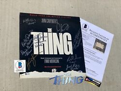 Kurt Russell Signed The Thing Cast Signed Album The Thing Lp Beckett Bas Coa