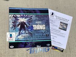 Kurt Russell Signed The Thing Cast The Thing Laserdisc Signed Beckett Bas Coa