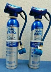 2 Pack Sub-zero Auto A/c Recharge Synthetic Refrigerant R-134a 345v Lot
