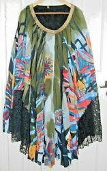 Geisha Designs Pleated Skirt From Anthropologie - Stated Size Xl.
