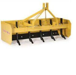 New Tarter Farm And Ranch 3-point 6' Box Blade - Yellow