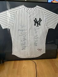 Ny Yankees Framed 1977 World Series Signed Jersey Steiner 20 Signatures