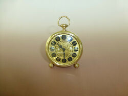 Vintage Europa German Made Gold Filigree Wind Up Alarm Clock Watch The Video