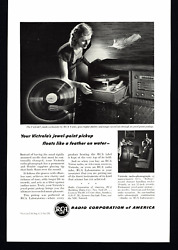1946 Double Ad Rca Victrola Radio-phonograph And United States Airlines Print Ad