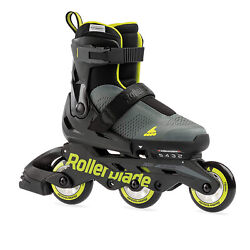 Rollerblade Microblade 3wd Inline Roller Skates For Kids Black Open Box