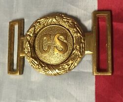 Civil War Belt Buckles 3 And A Breast Plate.