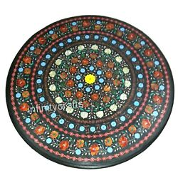 36 Inches Marble Hallway Table Top Stone Dining Table With Inlay Art Home Assent