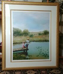 Adolf Sehring Lithograph 324/395 Hand Signed Framed 35.5×29.5 Picture-26×20
