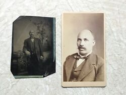 2 Xxx Rare Early 1800's Tintype And Late 1800 African American Man Photo Lot