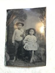 Xxx Rare Early 1800andrsquos Tintype African American Kids Beautiful Photo Pittsburgh