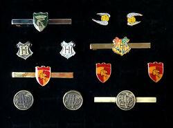 Ultimate Harry Potter 4 Pairs Cuff Links + 4 Tie Bars In Glass-topped Gift Case
