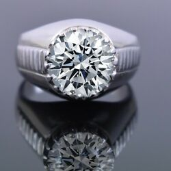 7 Ct Amazing Off White Diamond Solitaire Heavy Ring. Great Sparkle And Luster