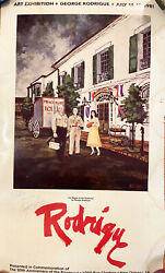 1981 Signed George Rodrigue Poster Ice Wagon At The Provincial Hotel New Orleans