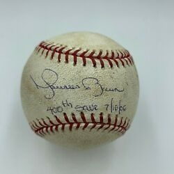 Mariano Rivera 400th Save Signed Inscribed Game Used Baseball With Steiner Coa