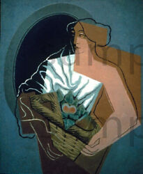 Woman With Basket By Juan Gris Print Or Framed With Size And Frame Options