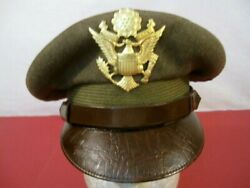 Wwii Us Army Air Force Aaf Officer's Crusher Cap Or Hat Size 6 7/8 Original 4