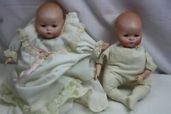 Pair Vintage Bisque Muriel Kramer Germany Reproduction Dolls Free Shipping