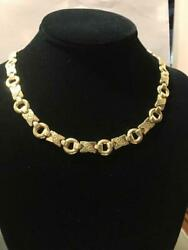 14k Yellow Gold Hugs And Kisses Necklace With Elegant Design