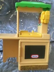 Little Tikes Doll House Vtg Oven Kitchen Furniture Counter Sink/oven 5 Green