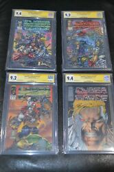 Cyberforce 1-4 Set Cgc Ss 9.4 9.2 9.2 9.4 Signed Silvestri Williams Not 9.8