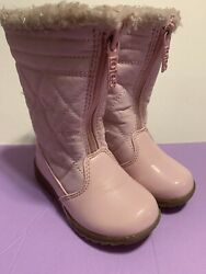 Totes Pink Boots Toddler Size 7 M Faux Fur Lined $12.99
