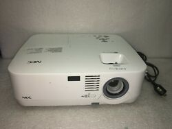 NEC NP310 Projector w 1136 Lamp Hours Used 72% Lamp Life Remaining. No Remote