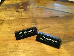 Monster Energy 4x6 Acrylic Table Tents W/ 5 Stickers Great For Bar Or Restaurant