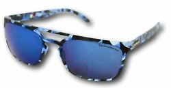 TechnoMarine Manta Ray Sunglasses TMEW006 04 Blue Camouflage Made in Italy $26.97