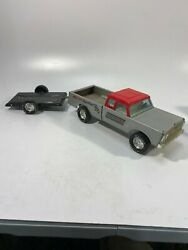 Vintage Nylint Ford Race Team Pick Up Truck And Trailer